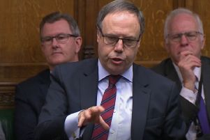 DUP deputy leader Nigel Dodds speaking in the House of Commons, London during the debate for the  European Union (Withdrawal Agreement) Bill: Second Reading. PA Photo.