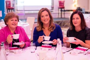 (L-R) Roisin Foster, Chief Executive of Cancer Focus NI, Jenny Campbell ex-Dragon and Lesley McGrogan, Women in Business.