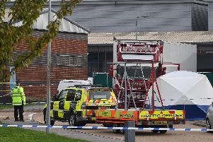One of the first images from the scene in Essex where a 25 year-old Northern Ireland man has been arrested on suspicion of murder.