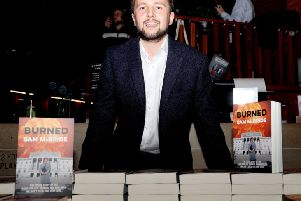 Journalist and author Sam McBride at the launch of his new book, 'Burned' in the Lyric Theatre.'Photo Laura Davison/Pacemaker Press