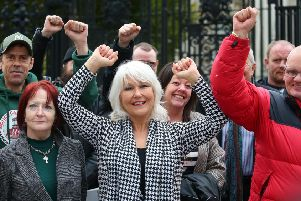Campaigners celebrate last week after Appeal Court judges ruled the Stormont Executive Office has the power to compensate survivors of institutional abuse in NI.