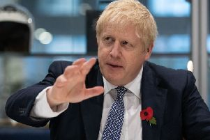 Prime Minister Boris is making promises to army veterans. Aaron Chown/PA Wire