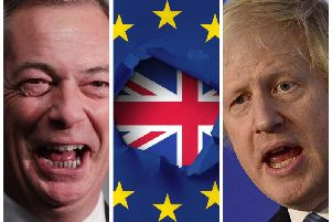 Brexit Party leader, Nigel Farage (left) and Prime Minister Boris Johnson.