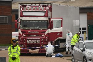 Thirty-nine people were found dead in the lorry last month