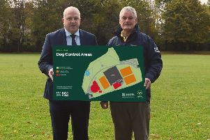 Alderman James Tinsley (left) and Alderman Tim Morrow are encouraging dog owners to comply with the new dog control orders