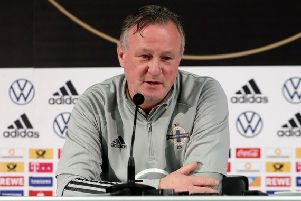 Northern Ireland manager Michael O'Neill before tonight's game in Germany. Pic by PressEye Ltd.