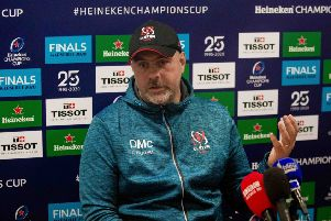 Heineken Champions Cup Round 2, Kingspan Stadium, Belfast 22/11/2019'Ulster vs ASM Clermont Auvergne'Ulster head coach Dan McFarland at the post match press conference'Mandatory Credit �INPHO/Morgan Treacy