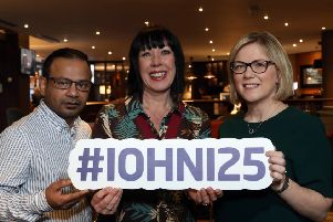 From left: Ali Askir, restaurateur, founder of the Irish Curry Awards,  Marianne Hood, chair of the Institute of Hospitality and Lisa Toland of Belfast City Council launch the 25th Institute of Hospitality Awards for Professionalism