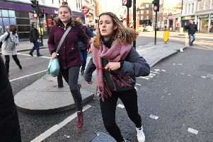 People fleeing from Borough Market, central London following a police incident