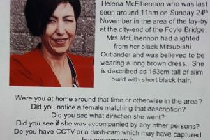 The police appeal for missing person Helena McElhennon