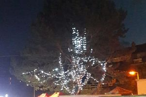 Kilkeel residents have been outraged at the quality of the council Christmas tree, which was turned on in an official ceremony on Saturday evening.