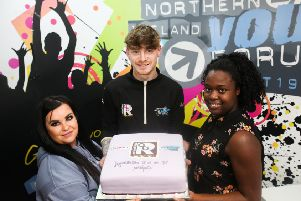 Chloe O'Toole, Tyler Morrison and Mileni Lopes Seidi -  just three of more than 100 young people affected by homelessness whose lives have been turned around by the Relentless Change Programme, run by the Northern Ireland Youth Forum, funded by the National Lottery Community Fund and supported by the Northern Ireland Housing Executive, Extern and Ulster University