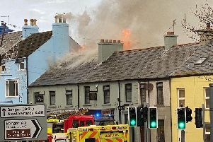 The fire at a restaurant in Donaghadee on Wednesday morning. (Photo courtesy of Andy McConn)