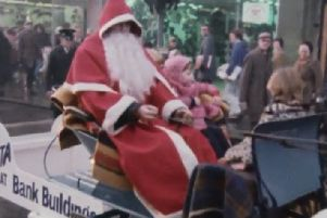 A still image from the Christmas in Belfast (1977) film which has been viewed more than any other in the NI archive