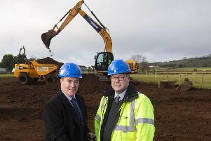 Paul Doyle, Relationship Manager, AIB (NI) is pictured with Bryan Vaughan, MD of Vaughan Homes.