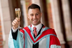 World Superbike champion Jonathan Rea received an honorary doctorate from Queen's University Belfast on Tuesday.