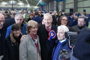 Gregory Campbell has been returned with an increased majority in Londonderry East.
