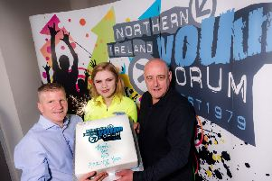 Chris Quinn, NIYF Director; Lucy Grainger, Chair and Rodney Green, the first NIYF Director (known back in 1979 as Secretary Organiser) at their 40th birthday celebrations. Over the years the NIYF has brought together thousands of young people from diverse backgrounds, forming lifetime friendships.