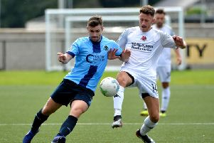 Winger Cormac Burke marked his first start for Institute with a first half brace.