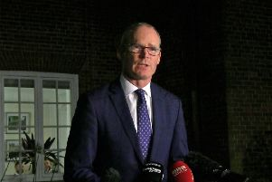 The NIO as ever made clear that Dublin is as much in control of the return of devolution as is the sovereign government. And sure enough, the Irish foreign minister Simon Coveney, at Stormont above, joined Julian Smith in blaming the DUP when neither has ever criticised Sinn Fein for collapsing Stormont for three years. Photo: David Young/PA