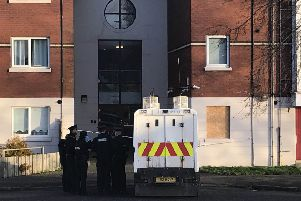 A rapid response paramedic and one officer went to the scene at Kinnaird Close off Duncairn Avenue on Monday. 'Pic Pacemaker Press