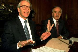 British Ambassador David Blatherwick said that the signing of the Joint Declaration by John Major and Albert Reynolds, above, had been transformative