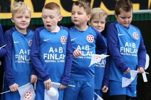 Hanover mascots before Saturday's Irish Cup tie against Cliftonville. Pic by INPHO.