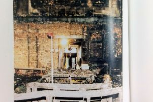 The fire completely destroyed the old Commons Chamber
