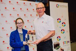 St Killian's student  Emma Martin -  one of the pupils from the College who has been selected to compete at the UK finals of The Big Bang UK Young Scientists & Engineers Competition in Birmingham in March