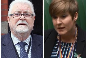 Independent unionist peer, Lord Ken Maginnis and SNP MP for Livingston, Hannah Bardell.
