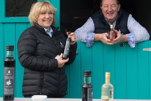 Burren Balsamics with Susie Hamilton and chef Bob McDonald at their facility in County Armagh