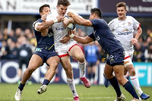 Ulster's Jacob Stockdale in action against Clermont on Saturday