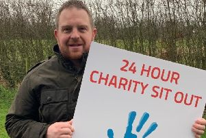 Stephen Fletcher who completed a charity sit-out on New Year's Eve for vision4kids