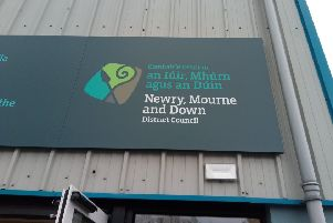 Irish wording above English at a public leisure facility in Saintfield, which Ben Lowry had criticised in his article