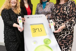 Pictured is Majella Barkley, Centre Director at Innovation Factory with the TriMedika team International Sales Manager Judith Kee, CEO Dr Roisin Molloy and COO Julie Brien.