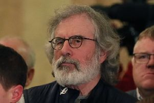 Former Sinn Fein leader Gerry Adams pictured in Stormont earlier this week. Photo: Brian Lawless/PA Wire