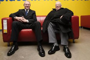 The letter-writer recalls the warm relationship between so-called 'Chuckle Brothers' Rev Ian Paisley and Martin McGuinness, pictured in 2007, which developed despite the DUP's previous deep antagonism toward SF