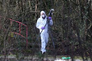 Forensic scientists at Craigavon murder scene