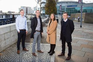 Pictured are Euan Baxter, Patrick Graham, Gemma Hamilton and Graham Clarke