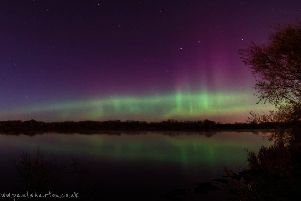 The Northern Lights caught on camera by Paul Wharton at Craigavon Lakes