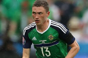 Northern Ireland's Corry Evans.
