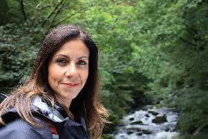 TV presenter Julia Bradbury. Photo: The Outdoor Guide/PA Wire