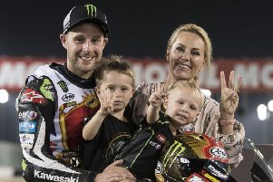 Jonathan Rea and family. Pics by GeeBee Images
