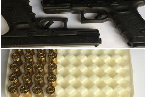 Images of the firearms and ammunition. (Photo: PSNI)