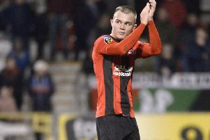 Rory Hale enjoyed a winning debut for Crusaders against Glentoran in the Irish Cup on Saturday.