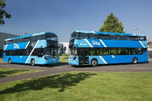 The high spec double deck buses were first introduced to Ballyclare and Newtownards.