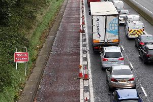 A queue on the motorway
