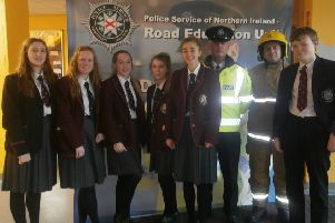 Shock scenes drive home hard-hitting road safety message at Carrick Grammar