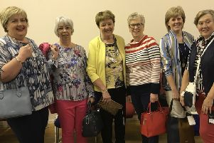 Models for the Muckamore WI 'Keeping Up Appearances' Evening - Sharon Carson, Lynda Brown, Margaret Bent, Alison Graham, Jean McCollam and Iris Maughan
