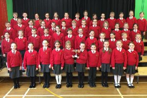 Ballyclare Primary School Sparklers choir received the Seaview Cup.